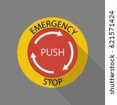 emergency stop button | Shutterstock .eps vector #621571424