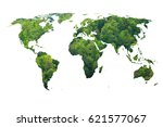 ecology world map  green forest ...