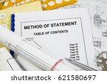 method of statement  brochure... | Shutterstock . vector #621580697