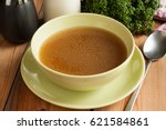 bone broth made from beef ... | Shutterstock . vector #621584861