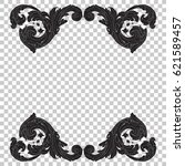 ornament in baroque style. you... | Shutterstock .eps vector #621589457