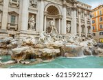 italy. rome. the trevi fountain.... | Shutterstock . vector #621592127