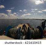 Small photo of vessels view, deck, mast. Vessel parts.