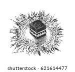 holy kaaba in mecca saudi... | Shutterstock .eps vector #621614477
