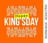 happy king's day logo vector... | Shutterstock .eps vector #621617441