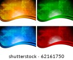Set of bright abstract backgrounds with circle texture (eps 10) - stock vector