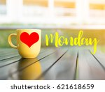 love and happy monday word... | Shutterstock . vector #621618659
