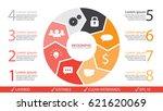 vector circle arrows... | Shutterstock .eps vector #621620069