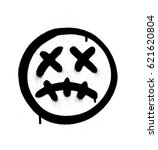 graffiti scary sick emoji...   Shutterstock .eps vector #621620804