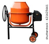 orange concrete mixer isolated...   Shutterstock . vector #621625661