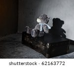 Toy Bear And Old Suitcase