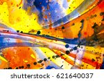 abstract watercolor texture.... | Shutterstock . vector #621640037