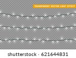 christmas lights isolated... | Shutterstock .eps vector #621644831