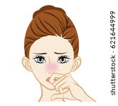 nose inflammation | Shutterstock .eps vector #621644999