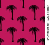seamless pattern palm | Shutterstock .eps vector #621645884