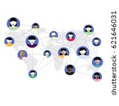 social media network concept.... | Shutterstock .eps vector #621646031