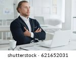 portrait of a businessman at... | Shutterstock . vector #621652031