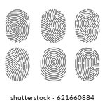 set of fingerprint types with... | Shutterstock .eps vector #621660884