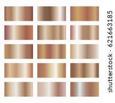 set of rose gold gradients on... | Shutterstock .eps vector #621663185