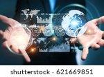 businessman on blurred... | Shutterstock . vector #621669851