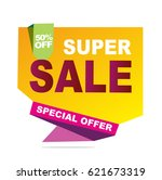 super sale vector banner.  50... | Shutterstock .eps vector #621673319