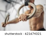 young male athlete with... | Shutterstock . vector #621674321