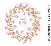 elegant wreath with decorative... | Shutterstock . vector #621679847