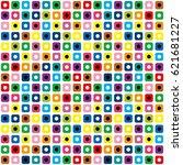 vivid psychedelic image color... | Shutterstock .eps vector #621681227