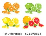 collection of citrus products   ...   Shutterstock .eps vector #621690815