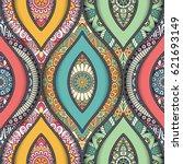 seamless pattern tile. vintage... | Shutterstock .eps vector #621693149