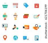 shopping  e commerce vector... | Shutterstock .eps vector #621706199