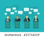 deputies dispute on the rostrum ... | Shutterstock .eps vector #621716219