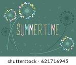 summertime vector card with... | Shutterstock .eps vector #621716945