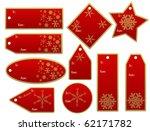 vector set of christmas gift tags - stock vector