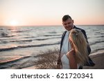 just married. beautiful young... | Shutterstock . vector #621720341