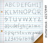 hand written fonts on single... | Shutterstock .eps vector #62172949