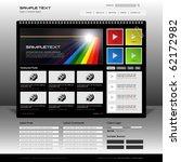 vector website design template | Shutterstock .eps vector #62172982