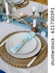 Table Setting  Plates On The...