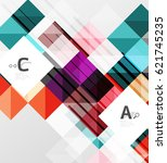vector square elements on gray... | Shutterstock .eps vector #621745235