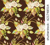 vintage country seamless floral ... | Shutterstock .eps vector #621748514
