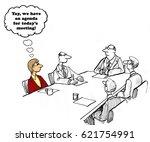 business cartoon about a... | Shutterstock . vector #621754991