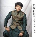 indian male model in... | Shutterstock . vector #621755129