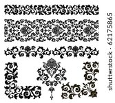 set of floral design elements... | Shutterstock .eps vector #62175865