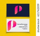 business card design template...   Shutterstock .eps vector #621762059