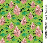 intricate seamless pattern with ... | Shutterstock .eps vector #621768311