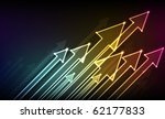 arrows glowing in the dark | Shutterstock . vector #62177833