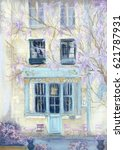 Pastel Drawing Of Cute Cafe...