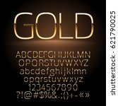 Vector Gold Alphabet Letters ...
