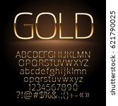 Vector Gold Alphabet Letters ...