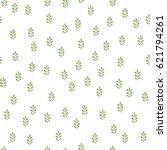 green herbs seamless pattern.... | Shutterstock .eps vector #621794261